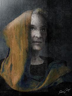 """Die Alte"" Portraitgemälde, Portrait, Portraitmalerei, Portrait auf Leinwand, Ölgemälde, Ölmalerei von Rainer M. Osinger, www.osinger-grafik.at, http://www.osinger-grafik.at/portrait_portraitmalerei_portraitgemaelde.html"