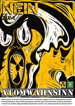 "Plakatillustration und Plakatgestaltung, - ""plakat atomkraft nein danke"" Plakate, Kunstplakate, Werbeplakate von Rainer M. Osinger"