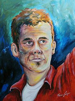 """""""Osinger"""" Portraitgemälde, Portrait, Portraitmalerei, Portrait auf Leinwand, Ölgemälde, Ölmalerei von Rainer M. Osinger, www.osinger-grafik.at, http://www.osinger-grafik.at/portrait_portraitmalerei_portraitgemaelde.html"""