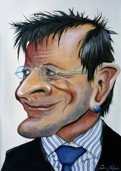 """""""Wolfgang Schüssel"""" Karikatur von Rainer M. Osinger - Karikaturen, Cartoons, Comics, Schnellzeichnungen, Portraits von Rainer M. Osinger"""