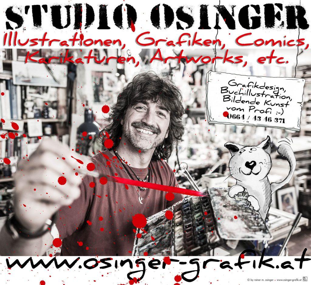 Rainer M. Osinger, Rainer Osinger, Grafikdesigner, Autor, Bildender Künstler, Illustrator, Karikaturist, Comiczeichner